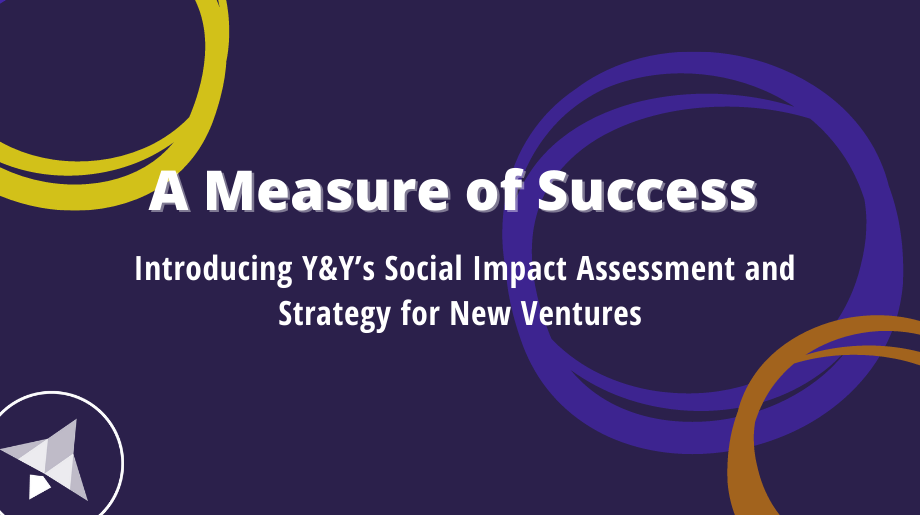 A Measure of Success – Introducing Y&Y's Social Impact Assessment and Strategy for New Ventures