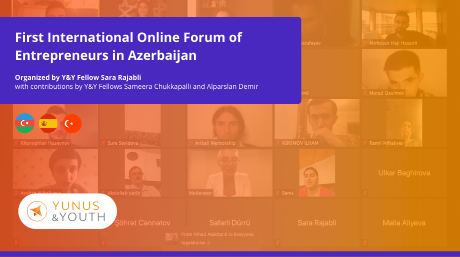 Y&Y Fellows contributed to the first online international forum of entrepreneurs in Azerbaijan